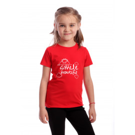 Tricou Happy Smile Kids Rosu